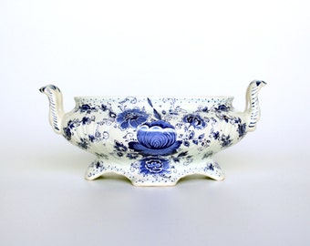 Delft blue Jardiniere h. Bequet-Delft Blue ceramic Flowerpot-Holland crafts