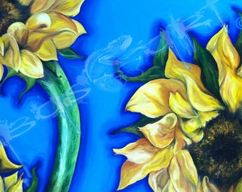 "Giclee Prints Available for ""Sunflowers"""