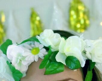 Pearl White Flower Crown
