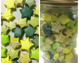 Lime and lemon paper stars