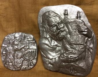 Vintage Cast Aluminum Jewish-themed plaques