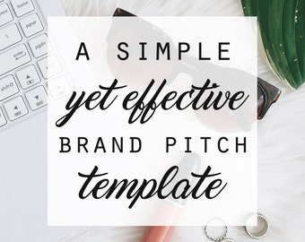 A Simple Yet Effective 2-Page Brand Pitch/Sponsorship Proposal Template