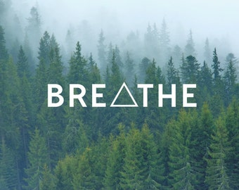 Breathe Triangle Decal / Quote Decal / Nature Decals / Laptop Decals / Car Decals / Computer Decals / MacBook Decals / Window Decals