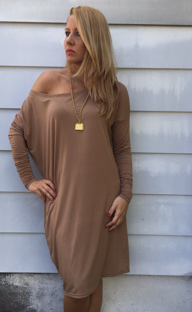Off shoulder dress/Loose dress/Sweater dress/Off the shoulder