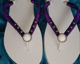 Decorated Flip Flops, Embellished Flip Flops, Original Flip Flops