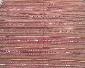 Size: 367 x 165 CM, Handmade vintage persian qalati kilim