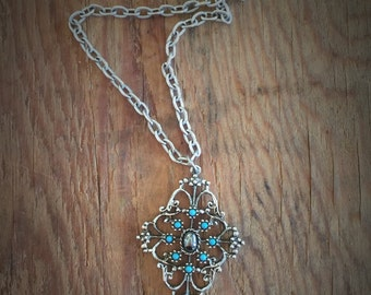 Vintage Avon Turquoise Pendant Necklace
