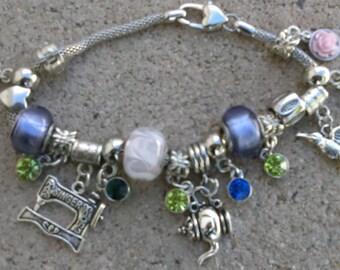 Pandora Style Charm Bracelet (Customize to Order)