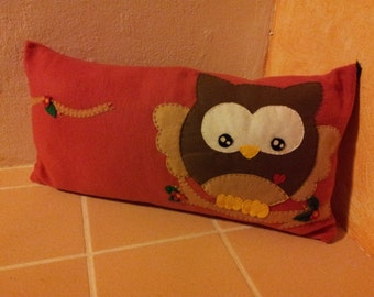 Pillowcase with fluffy OWL! 30 x 60 cm fleece