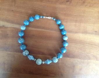 Lavender blue handmade 46 cm necklace