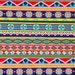 Aztec Indian Tribal Multi Color Poly-Spandex Fabric, Four Way Stretch Sold By The Yard, Bathing Suit, Yoga, Surfing/Active Wear