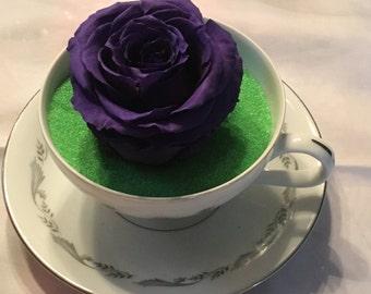 Preserved Purple Rose Arrangement