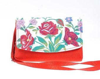 Unique Design Handmade Shoulder Cross-body Bag Vintage Embroidery Herritage