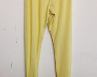 Buttercup yellow embellished harem pants with rhinestones