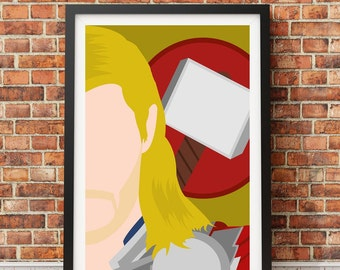 Thor - Minimalist film poster - Unique art print A4/A3 (introductory offer)
