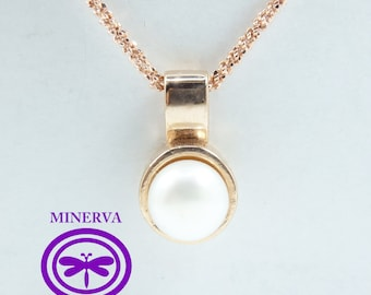 Rose gold plated silver pendant