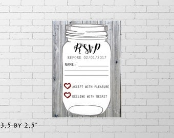 RSVP wedding card, rsvp card, respond card, respond card wedding, rustique wedding, wedding set, printable invitation, custom invitation