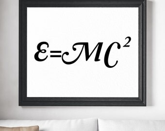 Physics Art Print - Einstein poster, Science Gifts, Physics Gifts, Physics Art, Physics Poster, Science Poster, Science Art, Nerd Gifts