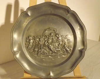 Vintage plate brass, wall hanging