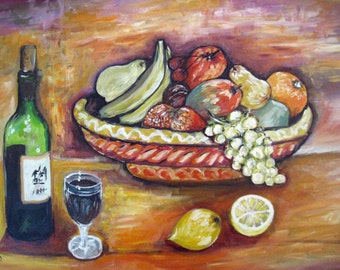 Fruit Basket and Wine