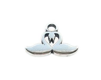 Sterling Silver Swan Charm, Swan Charm, Love Swans Charm, Love Charm, Alexia Silver