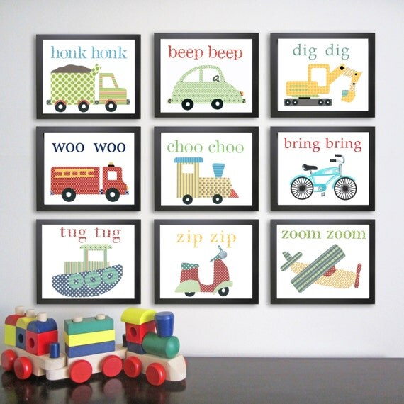 Nursery Wall Decor Transportation : Printable transportation nursery art instant download digital
