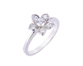 R024 Diamond Flower Ring