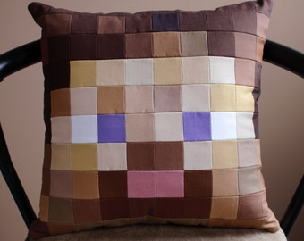 Minecraft Inspired Steve Quilted Throw PIllow