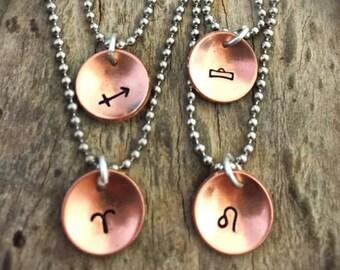 Copper Zodiac Necklace
