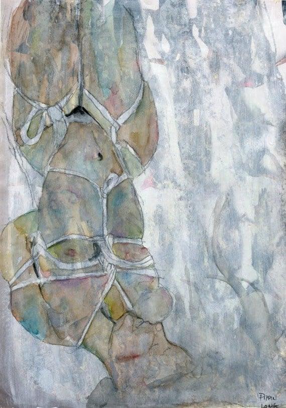 Original Shibari Watercolor Painting