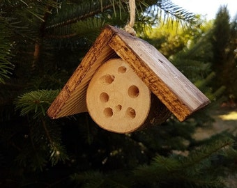 Small Hanging Wooden Insect Hotel