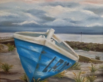 Beached Row Boat - Original
