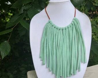 Jersey knit Fringe necklace