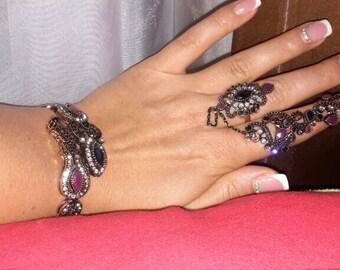 Bohemian ring and bracelet