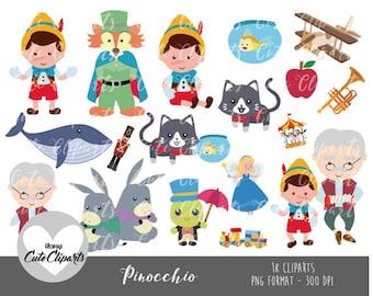 50% OFF SALE Pinocchio clipart-Pinocchio Digital Clip Art-Pinocho Clipart-Disney clipart-cat clipart-pinocchio stickers-pinocchio cute