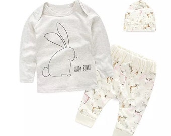 Beautiful outfit for baby girl top, bottoms and hat