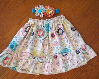 Boutique custom ruffled skirt