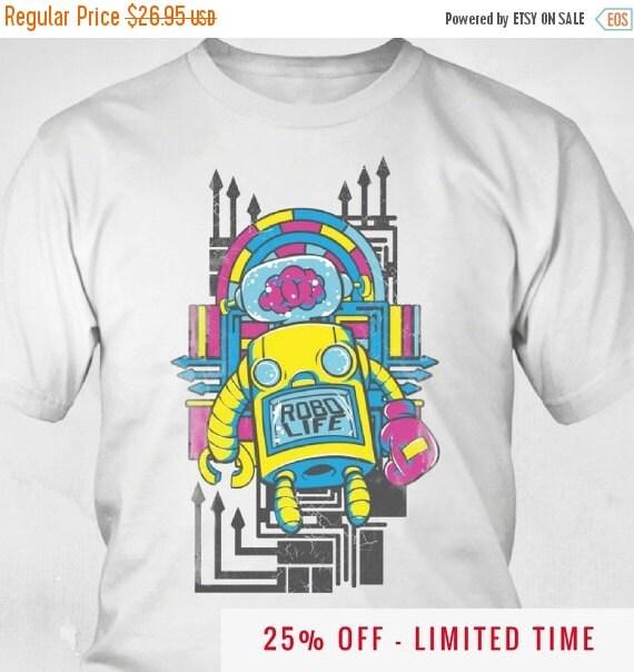 New Robot Shirt Bout That Robot Life Retro Shirt Cool