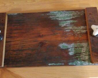 Reclaimed barnwood serving tray
