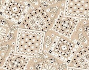 Bandana Tan Fabric