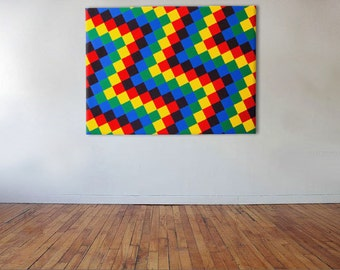 Recurring Tesselations - Acrylic on canvas - 102cm x 76cm