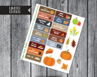 Autumn Activities Sticker Set for Passion Planner Compact **50% OFF**
