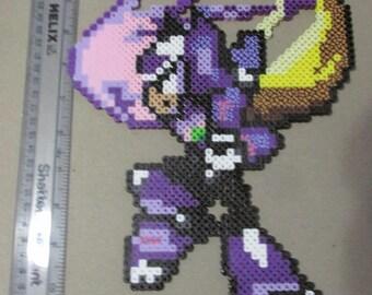 custom perler Mega Man x3 zero with Virus colors