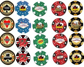 Casino Chips  Edible Images Cupcake, Cookie Toppers