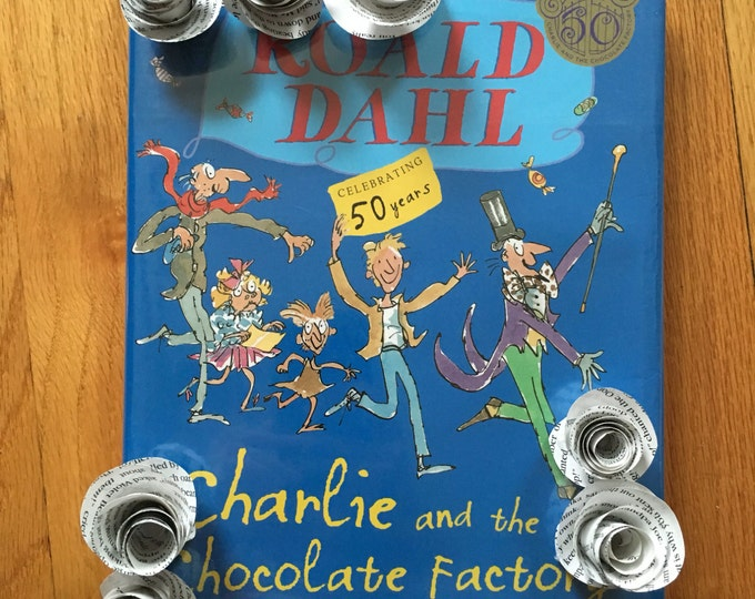 Roald Dahl Charlie and the Chocolate Factory Book Page Flowers