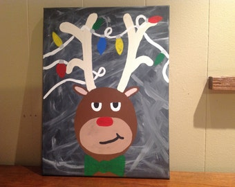 Angry Rudolph Canvas Painting