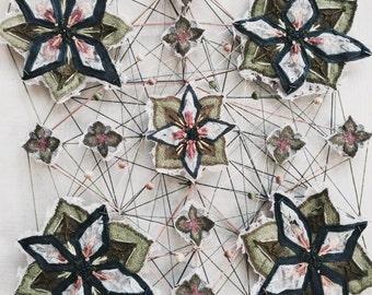 Textiles wall piece