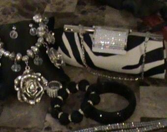 Black and White Jewelry Bundle