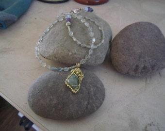 Aquamarine pendant & necklace