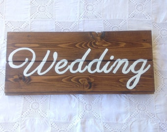 Wooden sign hand-painted Wedding
